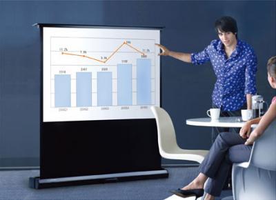 Проекционный экран Classic Solution Premier Scorpius 210х266 - общий вид