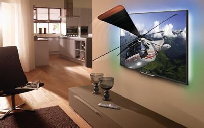Телевизор Philips 55PFL8007T/12 - в интерьере