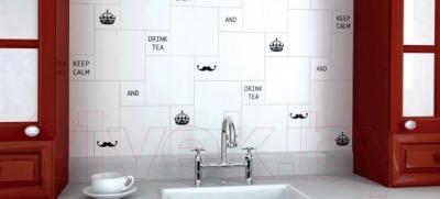 Плитка для стен кухни Kerama Marazzi Полотно Итон Конфетти 1230Т (400x300, белый)