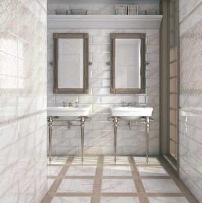 Декоративная плитка Kerama Marazzi Ноттингем Цветы Грань NT\A84\15005 (400x150)