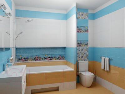Декоративная плитка для ванной Ceradim Панно Reef (900x250)