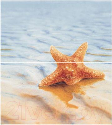 Декоративная плитка для ванной Ceradim Панно Starfish 1 (500x450)
