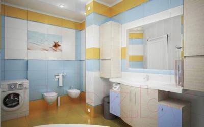 Декоративная плитка для ванной Ceradim Панно Starfish 2 (500x450)