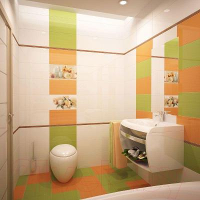 Плитка для пола ванной Ceradim Orange (330x330)