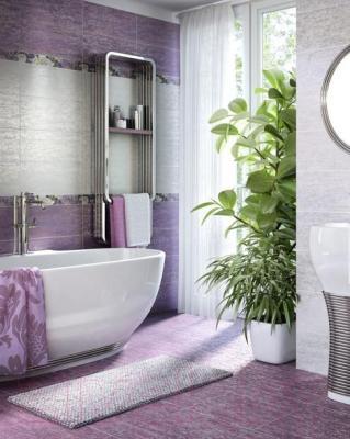 Декоративная плитка для ванной Intercerаmа Панно Metalico П 89 051 (500x460, фиолетовый)