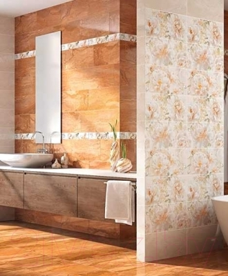 Плитка для ванной Intercerаmа Geos БВ 90 071 (500x70, серый)