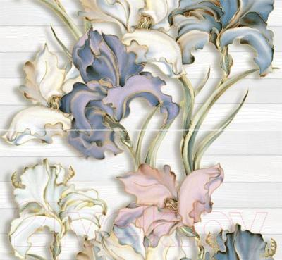 Декоративная плитка Intercerаmа Панно Batik П 83 071 (500x460, серый)