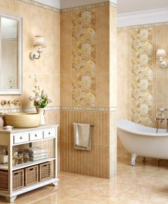 Бордюр для ванной Intercerаmа Elegance БШ 81 021 (230x95, бежевый)