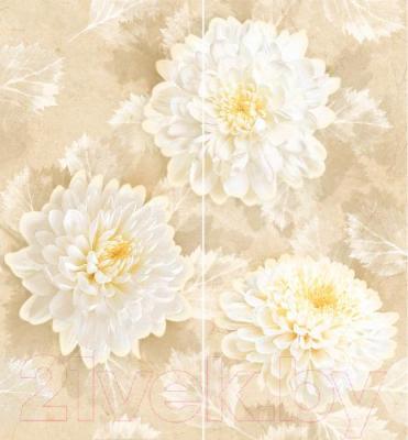 Декоративная плитка для ванной Intercerаmа Панно Elegance П 81 021 (500x460, бежевый)