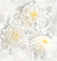 Декоративная плитка для ванной Intercerаmа Панно Elegance П 81 071 (500x460, серый) -