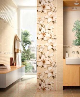 Бордюр для ванной Intercerаmа Oasis БВ 64 021 (500x70, бежевый)
