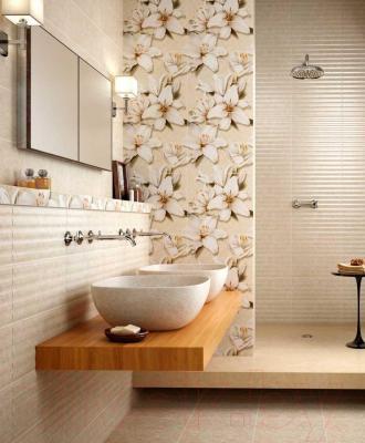 Декоративная плитка для ванной Intercerаmа Панно Oasis П 64 021 (690x500, бежевый)