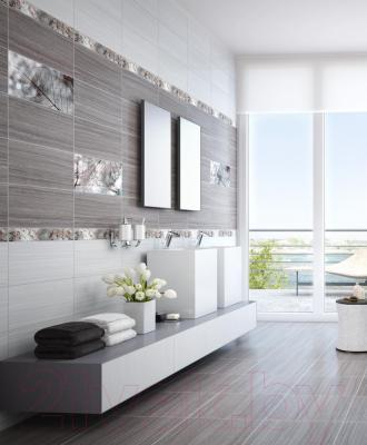 Плитка для пола ванной Intercerаmа Magia 4343 61 072 (430x430, темно-серый)
