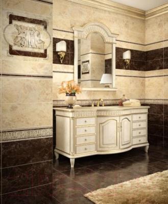 Бордюр для ванной Intercerаmа Emperador БУ 66 031 (500x45, коричневый)