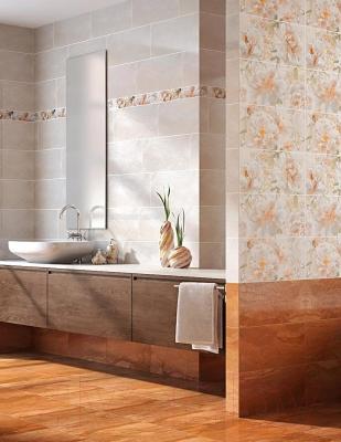 Плитка для стен ванной Intercerаmа Geos 2350 90 022 (500x230, красно-коричневый)