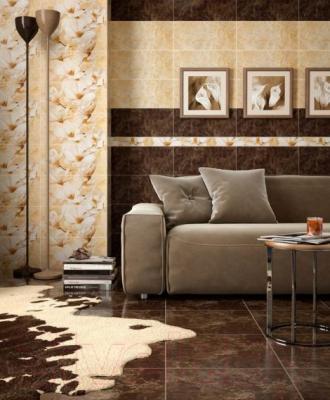 Декоративная плитка Intercerаmа Emperador Д 66 031 (500x230, коричневый)