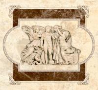 Декоративная плитка для ванной Intercerаmа Панно Emperador П 66 031-1 (500x460, коричневый) -