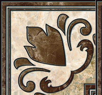 Декоративная плитка Intercerаmа Вставка Emperador ДН 66 031 (137x137, коричневый)