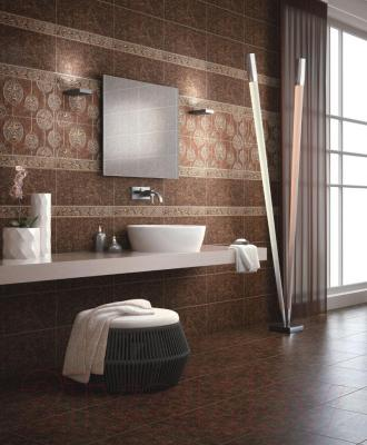 Плитка для пола ванной Intercerаmа Nobilis 4343 68 032 (430x430, темно-коричневый)