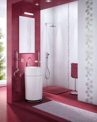 Плитка для стен ванной Intercerаmа Brina 2340 23 042 (400x230, темно-розовый)