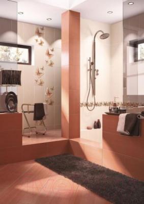 Декоративная плитка для ванной Intercerаmа Fantasia Д 09 071 (400x230, серый)