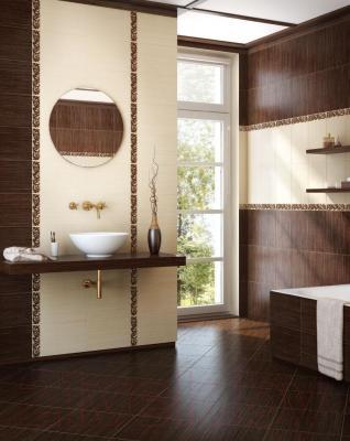 Плитка для пола ванной Intercerаmа Venge 3535 01 012 (350x350, темно-коричневый)