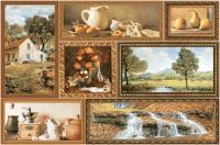 Декоративная плитка для кухни Intercerаmа Grani Д 74 031 (350x230, коричневый) -