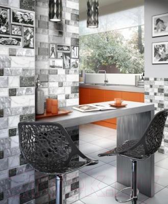 Декоративная плитка для кухни Intercerаmа Grani Д 74 071 1 (350x230, серый)
