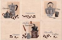 Декоративная плитка для кухни Intercerаmа Lucia Д 21 021 (350x230, светло-бежевый) -