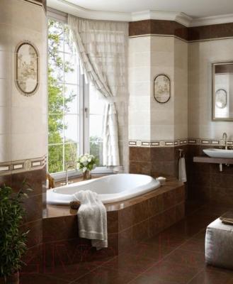 Декоративная плитка для ванной Intercerаmа Pietra Д 20 031 (400x230, коричневый)