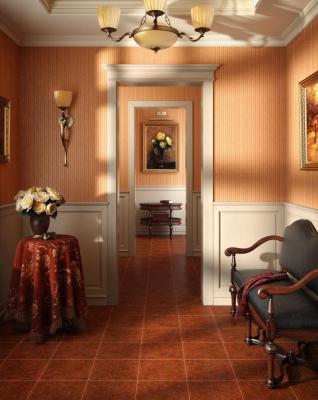 Плитка для пола Intercerаmа Bari 3535 07 032 (350x350, темно-коричневый)