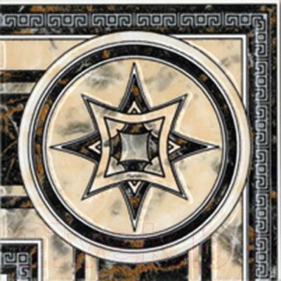 Декоративная  плитка для пола Intercerаmа Вставка Medio ДН 38 042 (137x137, бежевый)