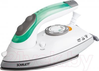 Дорожный утюг Scarlett SC-SI30T01 (бело-зеленый) - общий вид
