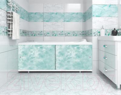 Экран для ванны МетаКам Кварт 1.68 (изумруд) - вместе с ванной