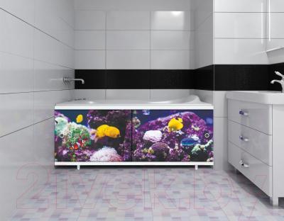 Экран для ванны МетаКам Ультра легкий Арт 1.48 (подводный мир) - вместе с ванной