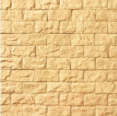 Декоративный камень Royal Legend Мирамар широкий желтый 08-140 (200x100x07-15)