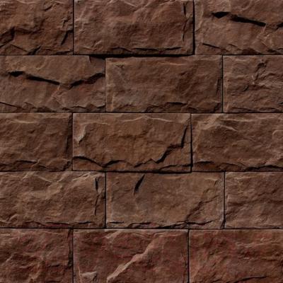 Декоративный камень Royal Legend Мирамар широкий серо-коричневый 08-680 (200x100x07-15)