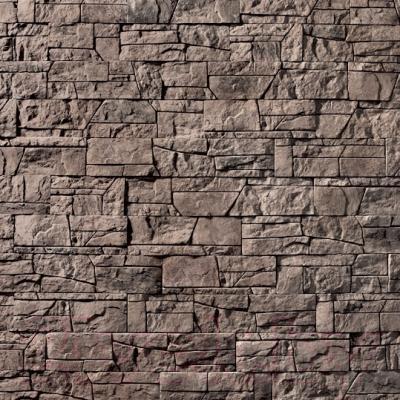 Декоративный камень Royal Legend Коста-Брава серо-коричневый 11-680 (485/290/185x97x15-20)