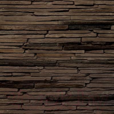 Декоративный камень Royal Legend Сиенна коричневый с черным 21-780 (485x150x15-25)