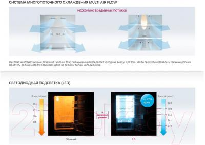Холодильник с морозильником LG GA-B419SMQL