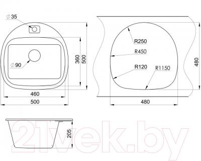 Мойка кухонная Granula GR-5050 (шоколад)