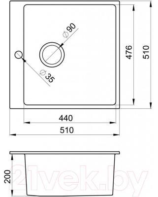Мойка кухонная Granula GR-5102 (графит)