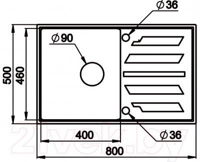 Мойка кухонная Granula GR-8002 (антик)