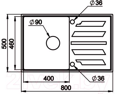Мойка кухонная Granula GR-8002 (пирит)