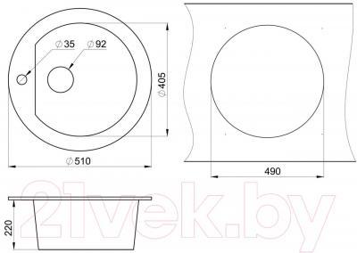 Мойка кухонная Granula GR-5101 (антик)