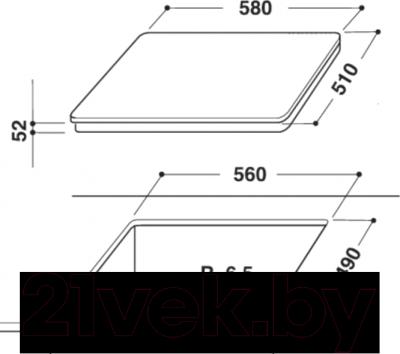 Индукционная варочная панель Whirlpool ACM 828/LX