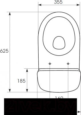 Унитаз напольный Cersanit 64 Merida 011