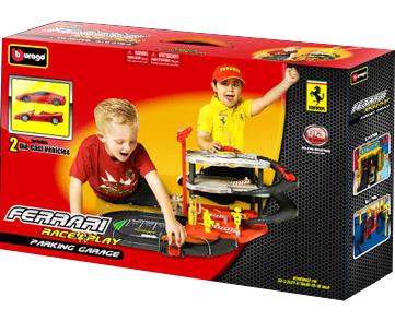 Паркинг с 2 машинками Bburago Ferrari City Garage (18-31204) - в упаковке