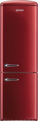 Холодильник с морозильником Gorenje RKV60359OR - вид спереди