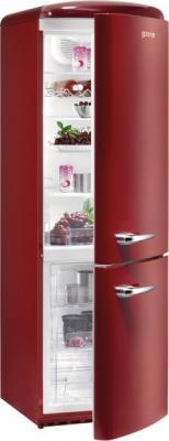 Холодильник с морозильником Gorenje RKV60359OR - в полузакрытом виде